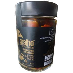 VALOR GASTRONÓMICO - Azeitonas Pretas Descaroçada em Azeite, Limão e Ervas Aromáticas 180gr - Gralho