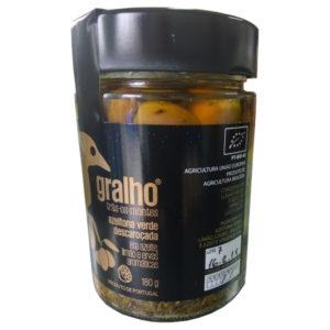 VALOR GASTRONÓMICO - Azeitonas Verdes Descaroçadas em Azeite, Limão e Ervas Aromáticas 180gr - Gralho