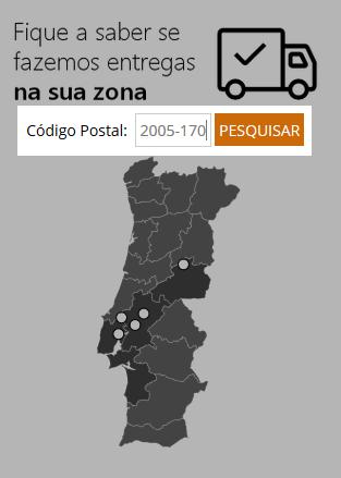 Mapa pesquisa locais com entrega ao domicílio